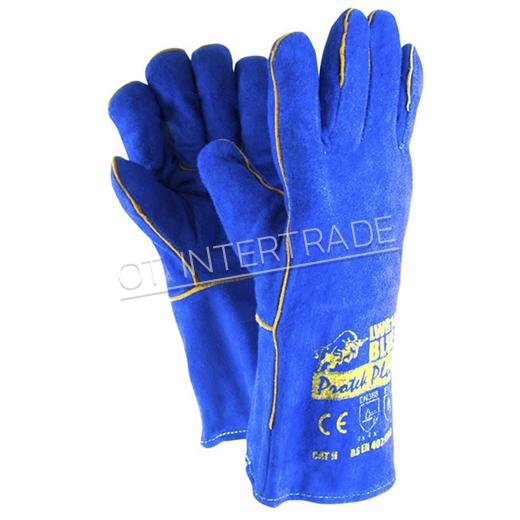 ถุงมือหนังงานเชื่อม LGW14 BLUE