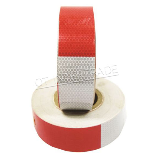 เทปสะท้อนแสงมาตรฐานกรมขนส่ง ขาวสลับแดง
